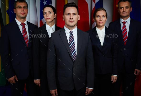 Confident delegates - Stock Photo - Images