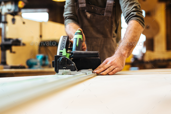 Joiner at work - Stock Photo - Images