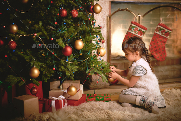 Christmas evening - Stock Photo - Images