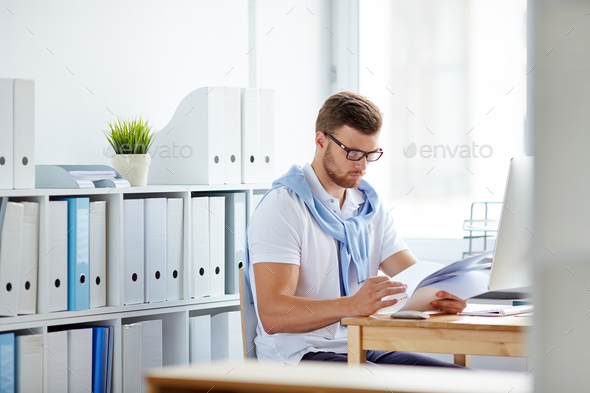 Working in office - Stock Photo - Images