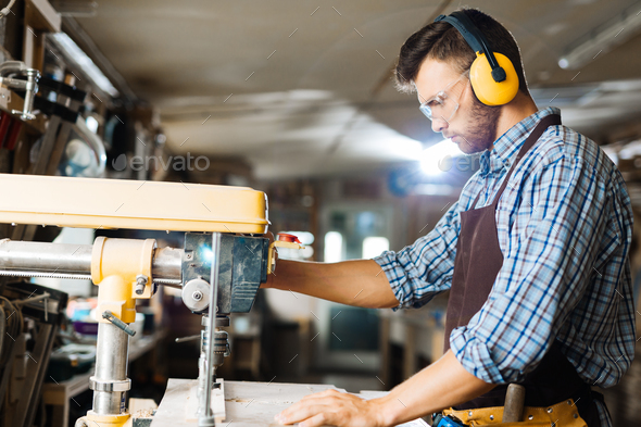 Drilling in workshop - Stock Photo - Images