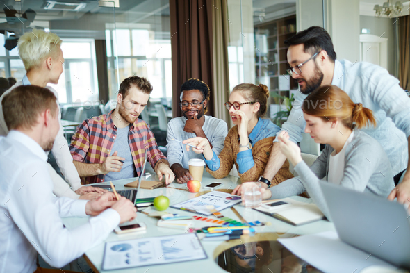 Briefing of designers - Stock Photo - Images
