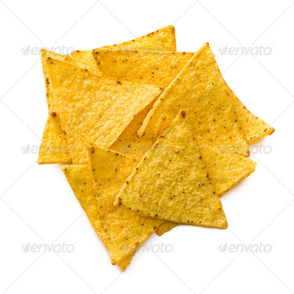 the nachos chips - Stock Photo - Images