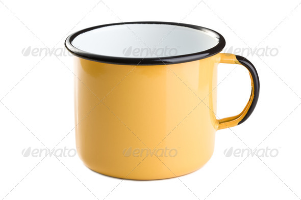 tin cup - Stock Photo - Images