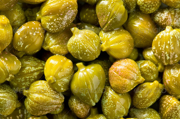 green capers background - Stock Photo - Images