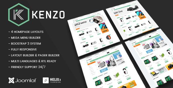 Vina Kenzo – Responsive VirtueMart Joomla Template