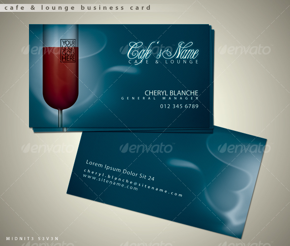 Cafe & Lounge Business Card - Industry Specific Business Cards