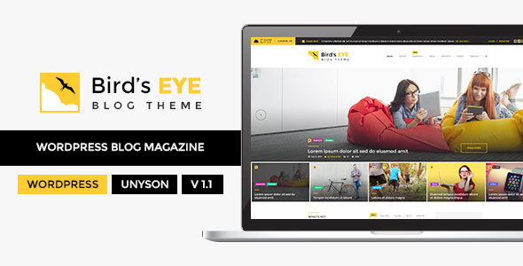 Blog - WordPress Blog Theme - Birds Eye - Blog / Magazine WordPress