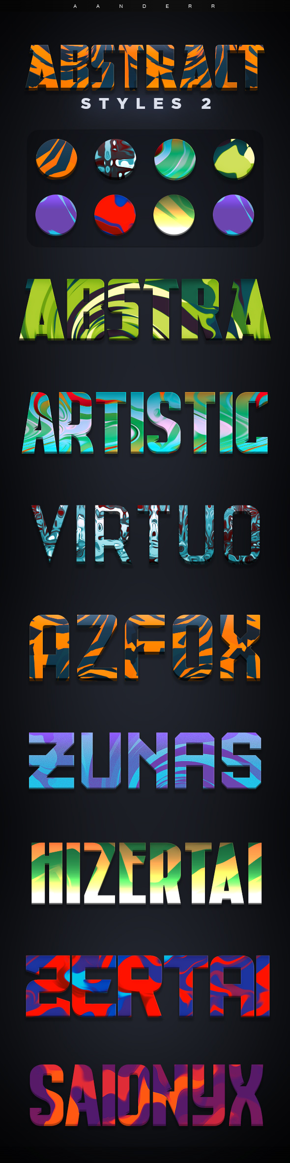 Abstract Photoshop Styles 2 - Text Effects Styles