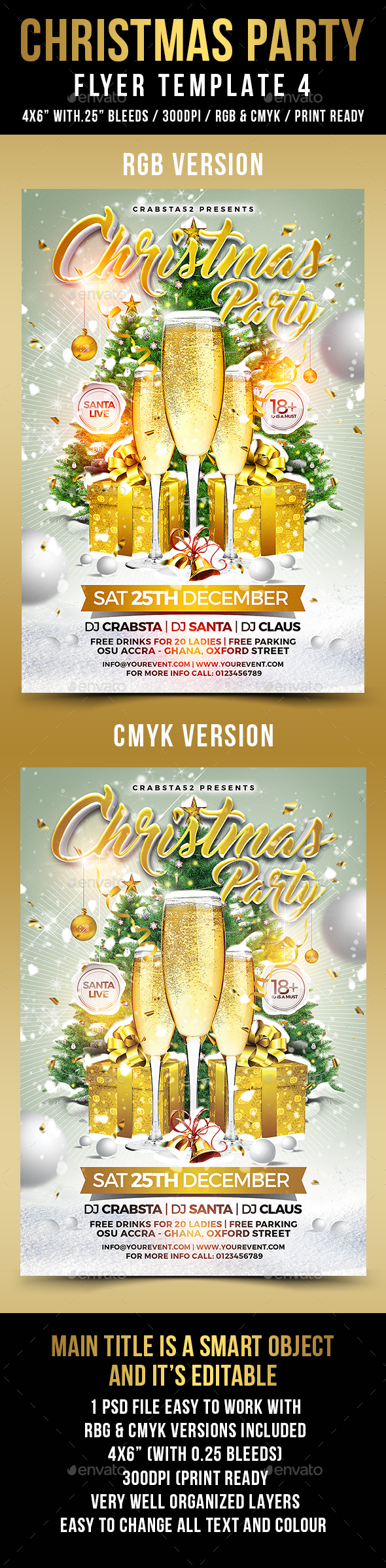 Christmas Party Flyer Template 4 - Flyers Print Templates