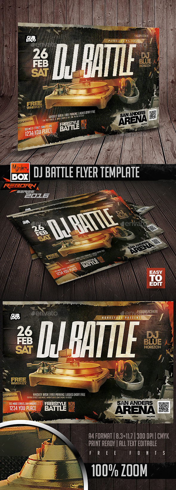 Dj Battle Flyer Template - Flyers Print Templates