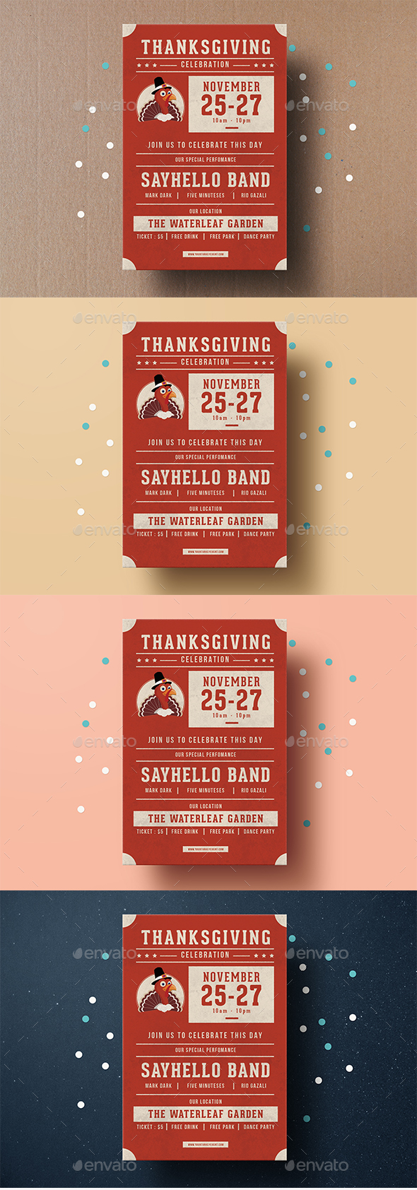 Thanksgiving Festival Flyer - Events Flyers