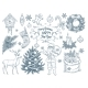 Set of Hand Drawn Christmas Elements - GraphicRiver Item for Sale