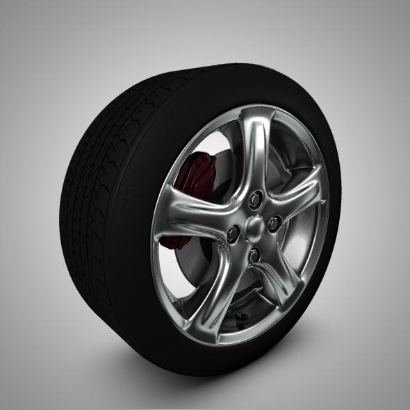 Chrome wheel - 3DOcean Item for Sale