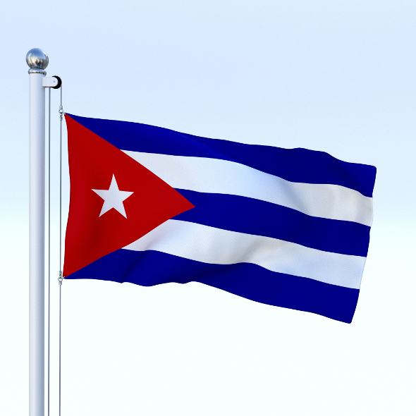 Animated Cuba Flag - 3DOcean Item for Sale