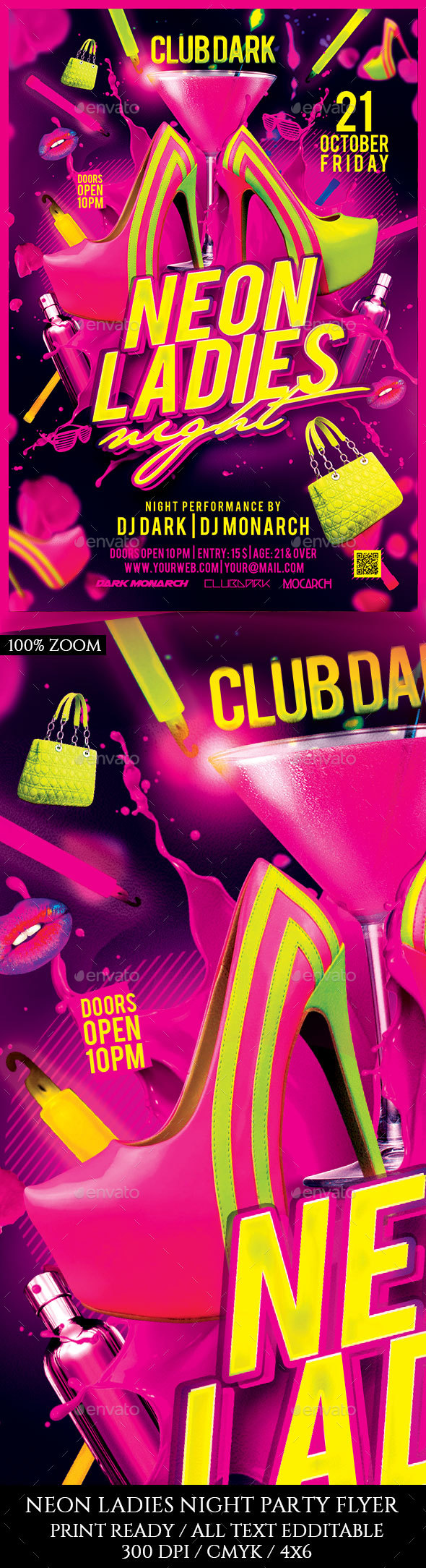 Neon Ladies Night - Clubs & Parties Events