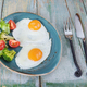 Two fried eggs and vegetables - PhotoDune Item for Sale