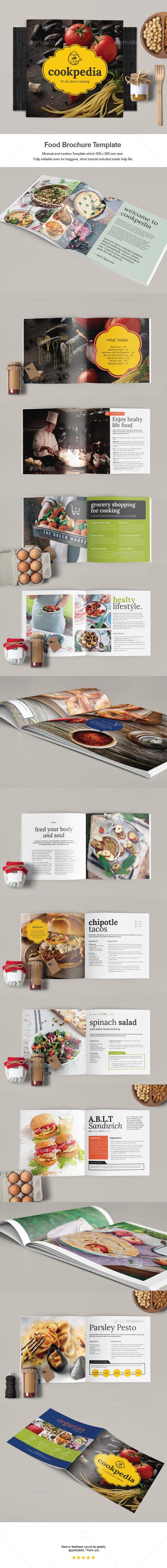Food Brochure Template - Catalogs Brochures