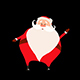 Walking Santa 8 Looped  - VideoHive Item for Sale