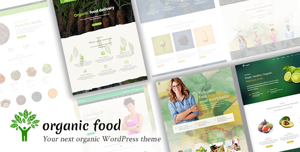 Organic Food – Nutritionist & Food WordPress Theme