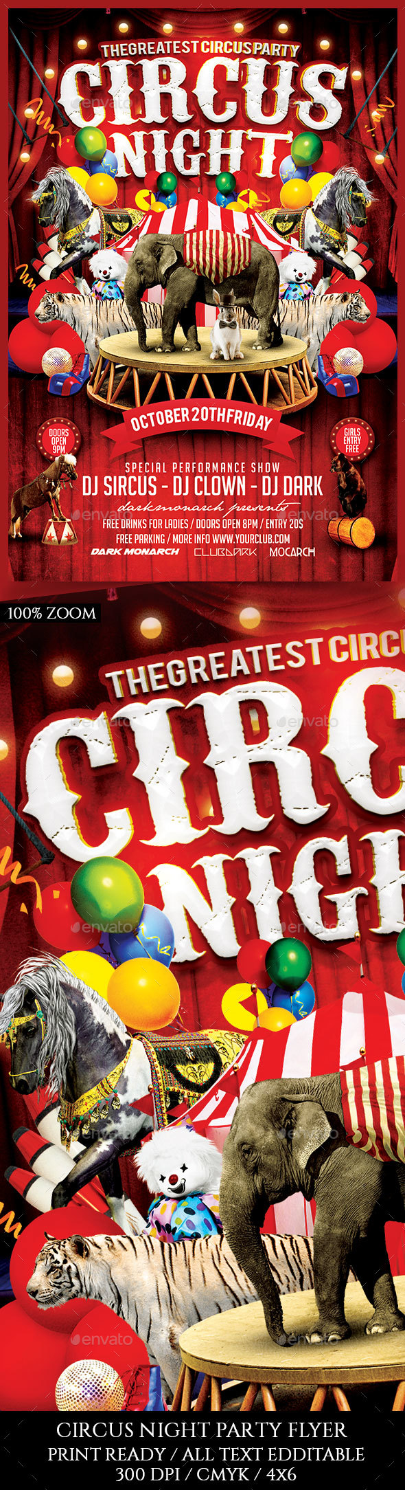 Circus Night Flyer - Clubs & Parties Events