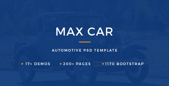 Max Automotive – All About Cars PSD Template