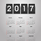 Calendar 2017 Year - GraphicRiver Item for Sale