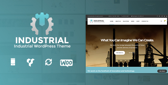 Industrial – Business, Industry WordPress Theme