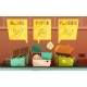 Download Vector Garbage Waste Sorting Cartoon Icons Set