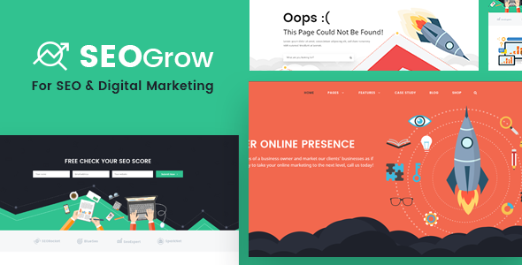 SEO PSD Template – SEO Grow (Online Digital Marketing, Growth Hacking)