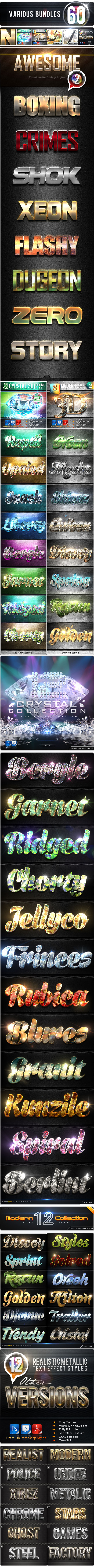 60 Various Bundles Vol.2 - Text Effects Styles