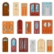 Set of Colorful Front Doors