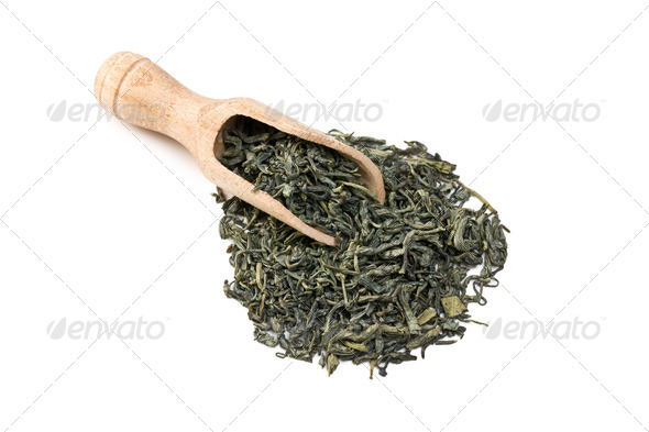 green tea leaves - Stock Photo - Images