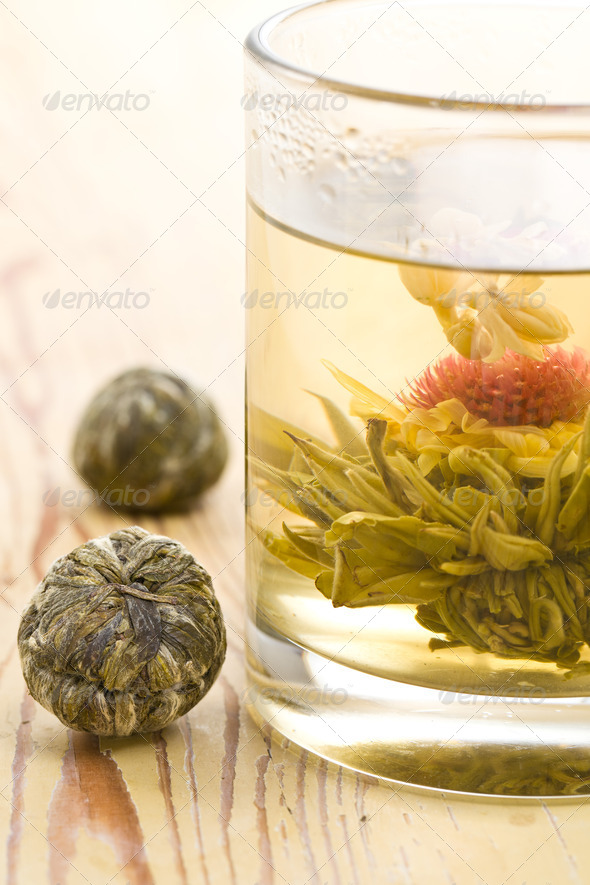 tea with flower - Stock Photo - Images