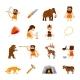 Stone Age Icons Set