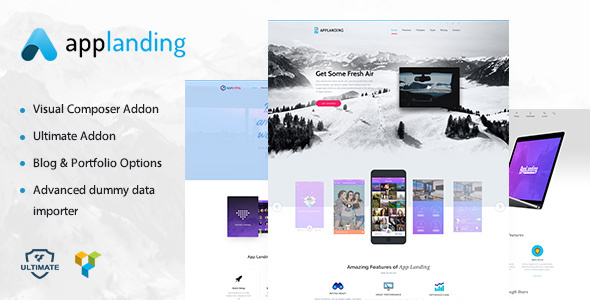 App Landing | App Promotion, App Showcase WordPress Theme
