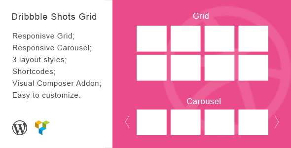 Dribbble shots grid - CodeCanyon Item for Sale