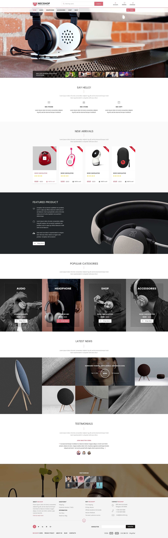 Necshop eCommerce Responsive Html Template by creativemarket247 ...