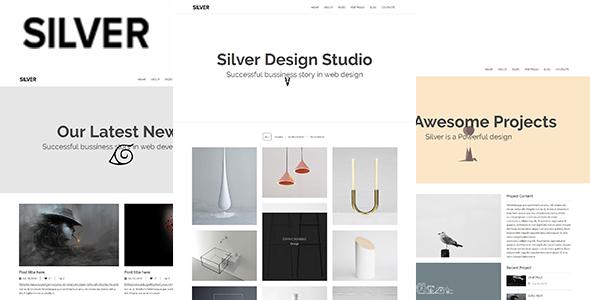 Silver - Minimal Portfolio Template - Site Templates