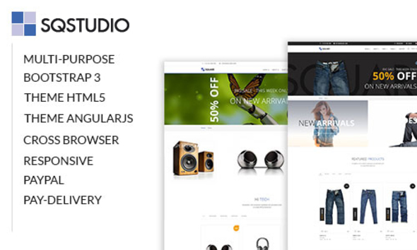 SQSTUDIO – Multipurpose Template