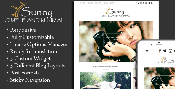 Sunny - Simple and Minimal WordPress Theme