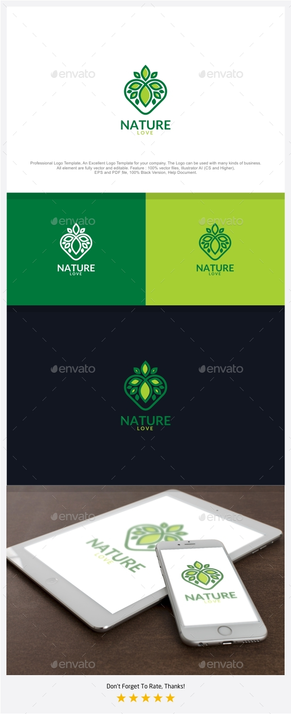 Nature love logo by putracetol graphicriver nature love logo symbols logo templates biocorpaavc