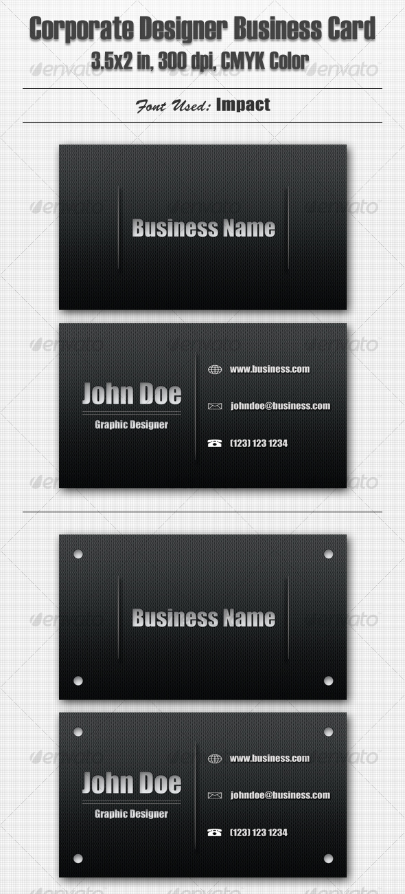 Corporate Designer Business Card - Corporate Business Cards