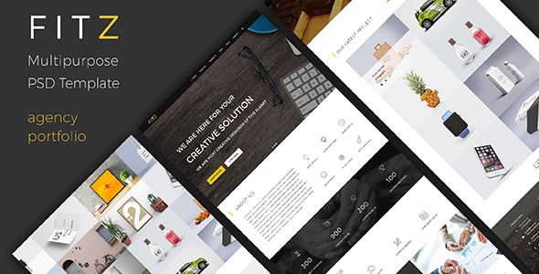 FITZ – Multipurpose One Page PSD Template