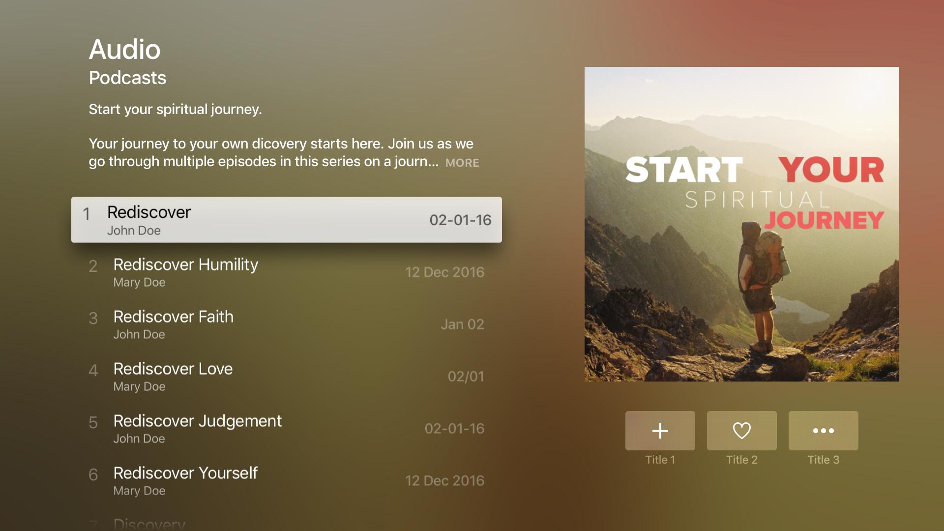 Apple TV Church App - ChurchYangu