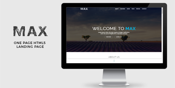 Max – Landing Page