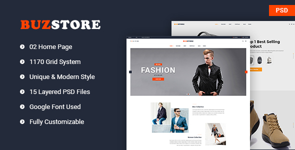 Buzstore – Fashion/Clothing eCommerce PSD Template