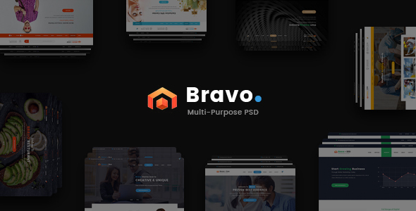 Bravo – Multi-Purpose PSD Template