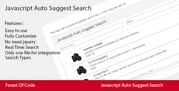 Javascript Auto Suggest Search - CodeCanyon Item for Sale