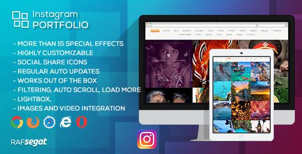 Instagram Portfolio - Wordpress Plugin - CodeCanyon Item for Sale